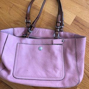 Coach pink leather purse
